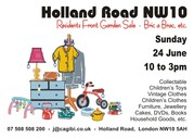Holland Road NW10 Residents Front Garden Sale Bric a Brac Etc.